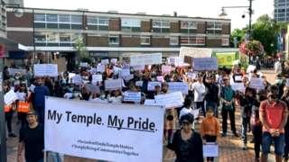 Swindon Hindu Temple peace march