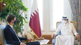 Джаред Кушнер и эмир Катара Тамима бен Хамада Аль Тани