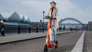 Neuron e scooter in Newcastle
