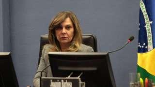 A subprocuradora-geral da República Lindôra Araújo, representante do procurador-geral Algusto Aras, comanda investigações