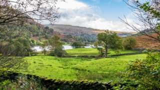 View over to Rydal Water in the Lake District