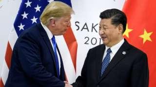 Trump and Xi at G20 in Osaka