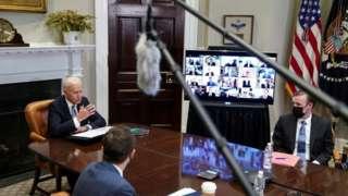 Biden em foto de 12 de abril