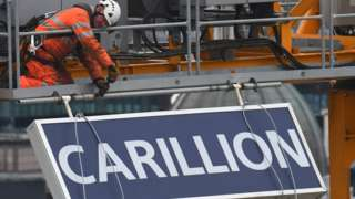 Carillion sign is taken down