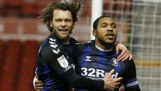 Middlesbrough's Britt Assombalonga (right)