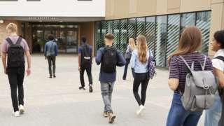 Generic image of pupils on school walk