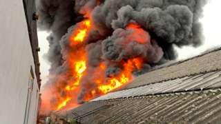 Fire in Dagenham