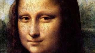 Detalle de la cara de la Mona Lisa