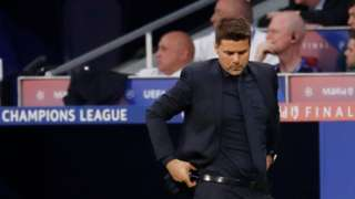 Mauricio Pochettino on the touchline during the Champions League final