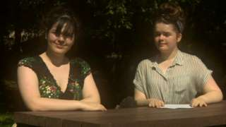 Bethan (l) and Martha (r) Edwards