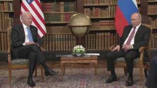 President Joe Biden meets President Vladimir Putin in Geneva
