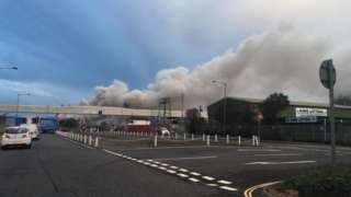 Avonmouth fire
