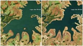 Antes e depois da seca