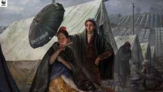 WWF's version of Goya's El quitasol (The Parasol)