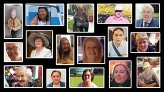 Composite of Covid victims