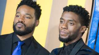 Ryan Coogler and Chadwick Boseman at the European premiere of Black Panther in 2018