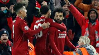 Mo Salah celebrates