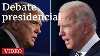 Trump frente a Biden en el segundo debate presidencial