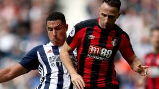 West Brom's Jake Livermore and Bournemouth's Marc Pugh