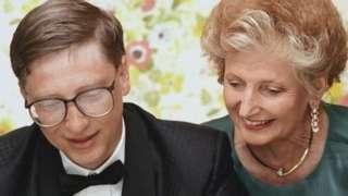 Bill Gates com sua mãe Mary Maxwell.