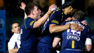 Ashley Beck scored what proved to be Warriors' winning try at Sixways