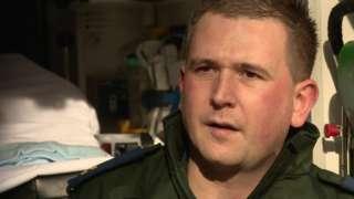 Ambulance staff member Gary Watson