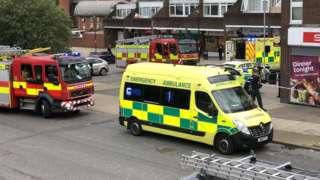 Acid attack outside shops in Bury St Edmunds, Suffolk