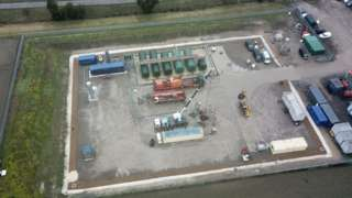 Aerial view of site