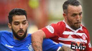 Ragners' Daniel Candeias and Hamilton's Dougie Imrie