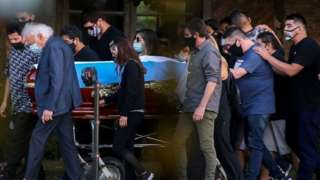 Maradona Buenos Aires yakınlarında özel bir mezarlıkta defnedilmişti