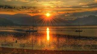 Holy loch sunset