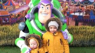Buzz Lightyear with children