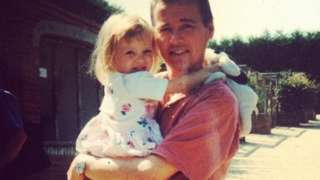 Hayley as a child with her dad Kevin