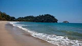 The beach at Manuel Antonio National Park in Quepos, Costa Rica