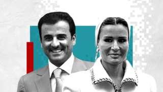 Katar Emiri Şeyh Temim bin Hamad El Sani ve eşi Şeyha MozaBintNasır
