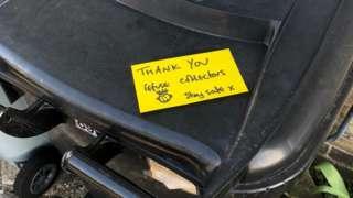 Note on a bin lid