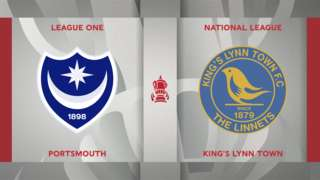 Portsmouth v King's Lynn Town badge graphic