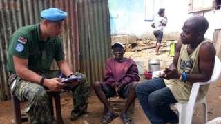 Српски војник у мисији УН у Либерији
