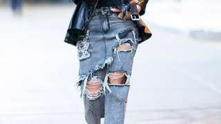 Priyanka Chopra in a pair of ripped jeans