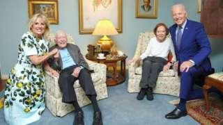 Jill Biden, Jimmy and Rosalynn Carter, Joe Biden
