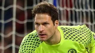 Goalkeeper Asmir Begovic in action for Chelsea