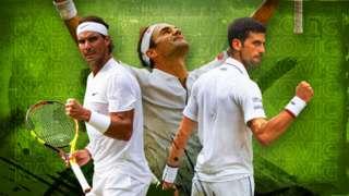 Nadal, Djokovic and Federer