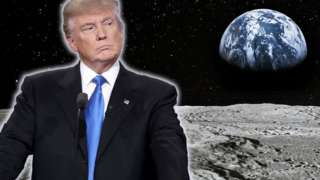 Donald Trump on the moon