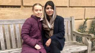 Greta Thunberg and Malala Yousafzai