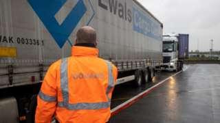 Customs check in Zeebrugge, Belgium, 21 Dec 20