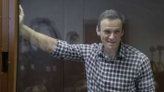 Russia's Alexei Navalny appears in court in Moscow, Russia