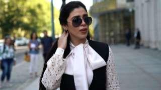 "Emma Coronel Aispuro, wife of accused Mexican drug lord Joaquin ""El Chapo"" Guzman,"