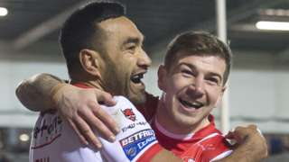 Zeb Taia & Mark Percival celebrate
