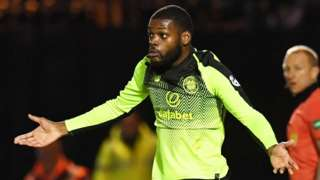 Olivier Ntcham looks bemused after being shown a red card
