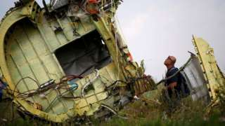 Обломки авиалайнера